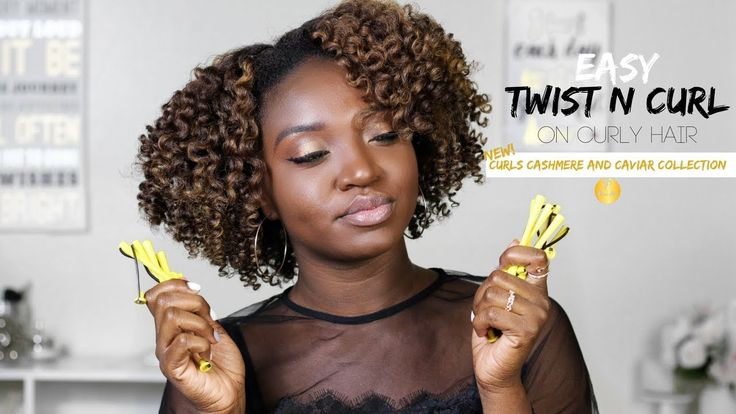 Twist N Curl on Curly Hair