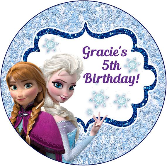Personalised personalized ana Anna Elsa frozen snow let it snow sticker stickers