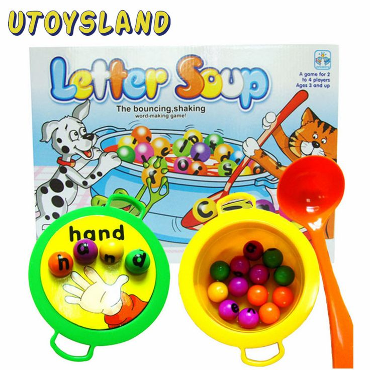 UTOYSLAND Plastic Letter Soup Matching Word Board Game Electronic Educational Toy Gift for Kids toys for children
