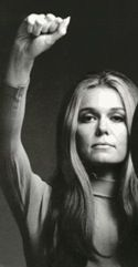 """Gloria Steinem-how can I not include an ealy hero as I began to read and educate myself and become a feminist.  Yes, I said the F word, bow anything I love, my girly pleasure for lovely haute coture and that perfect shade of nail polish,I will have the """"dome feminist YOU are"""" thrown in my face, as if a woman is one thing and defined by only one thing.  SP, GO Gloria!"""