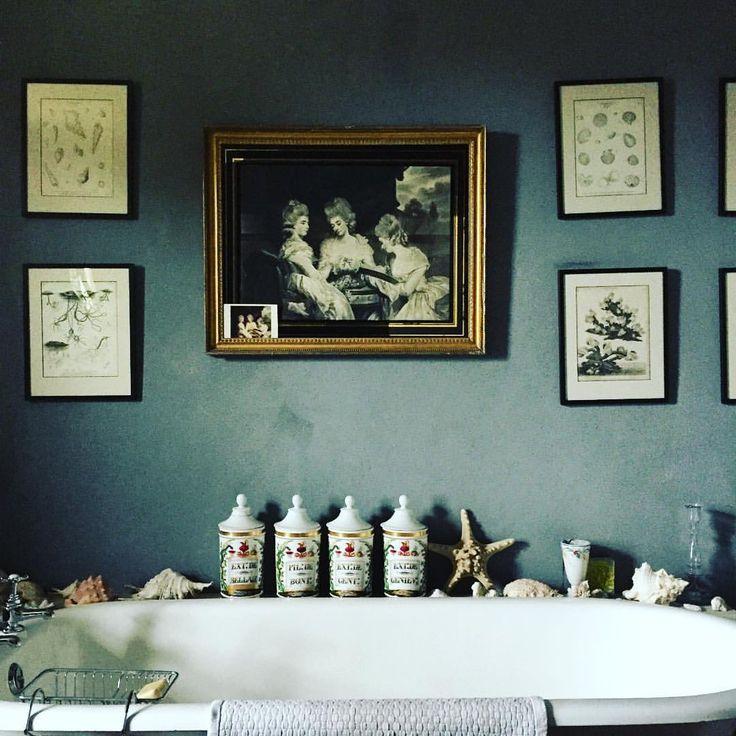 """Dream dream guest bathroom at Edward and Jane Hurst's....... @edward_hurst ,"" from Ben Pentreath's Instagram (14 December 2015)."