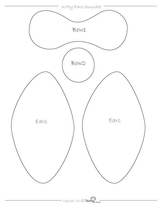 Sunny by Design: Hello Kitty Ears tutorial