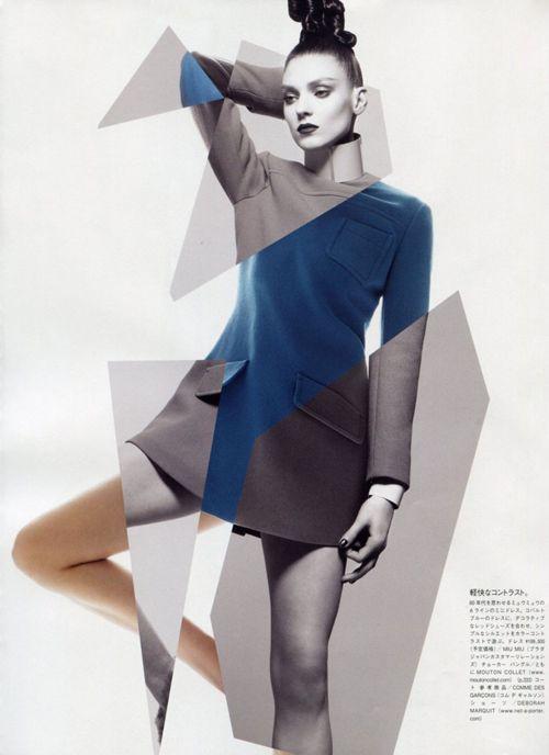 George Cortina styles Kati Nescher in 'Organic Neon-Tech', a testament to 21st century eco-conscious dressing made of high-tech fabrics. Sølve Sundsbø lenses Nescher for Vogue Japan's October issue.