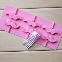Nieuwe Snor Siliconen Chocolade Een Stuk Lollipop Mold Candy Bruiloft Decoratie Keuken Bakvormen Fondant Cake Decoratie(China (Mainland))