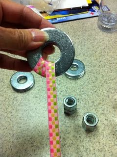 Make pattern weights from washers!.