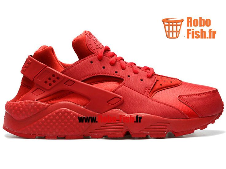 "Nike Air Huarache Run ""triple rouge"" - Chaussure Nike Running Pas Cher Pour Homme Gymnase/Rouge 634835-601"