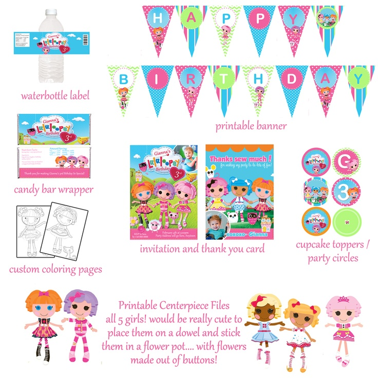 lala lopsy birthday ideas   ... booth » SOLD: Entire Lalaloopsy Birthday Package Digital Files