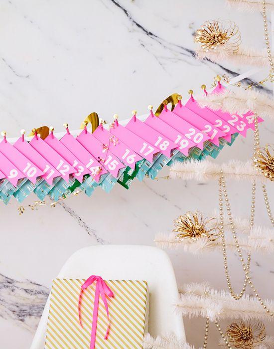 a holiday countdown garland DIY...