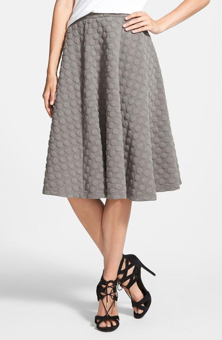 Trending for fall   Embossed midi skirt.