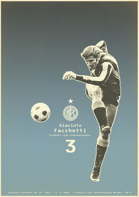 Zoran Lûcič   is a graphical editor with a huge love of football. This is a huge series of author-Zoran posters in retro style. A mixture of collage and printing-looks really great!