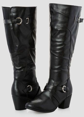 c0a774e71dd6 Short Chunky Heel Tall Boot - Wide Width Wide Calf Short Chunky Heel Tall  Boot - Wide Width Wide Calf