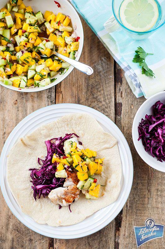 Fish tacos with mango salsa/ Rybne taco z salsą z mango
