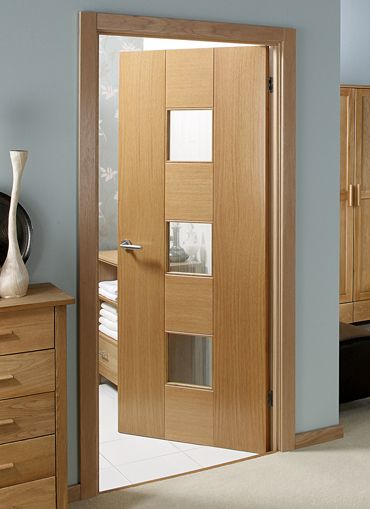 GLAZED OAK DOOR OPTIONS. Catalonia Oak Pre-glazed Internal Door