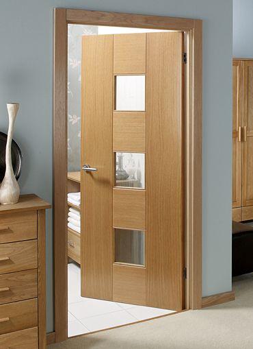 GLAZED OAK DOOR OPTIONS. Catalonia Oak Pre-glazed Internal Door