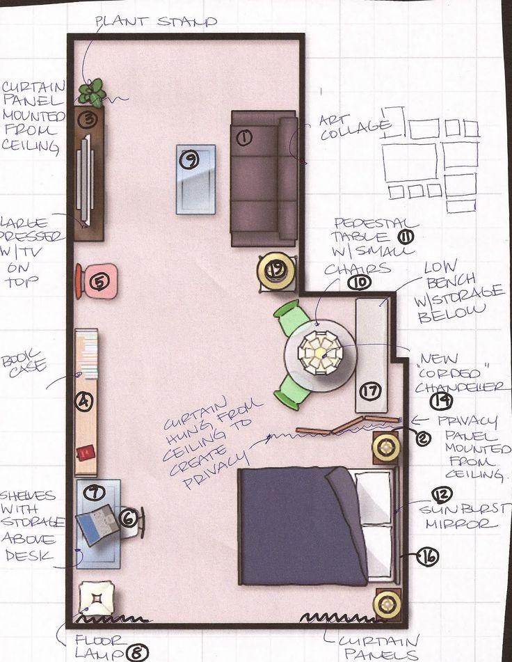 17 Best Images About Studio Apartment Ideas On Pinterest