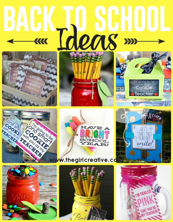 Creative DIY Back to school crafts and activities  - great teacher gift ideas for the first day of school or a back to school party. Free back to school printables