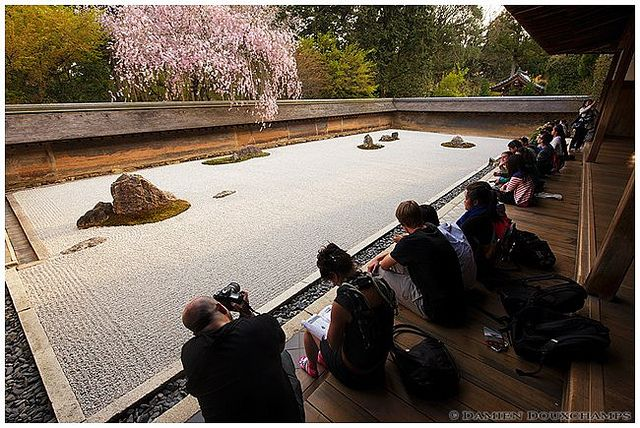 Ryoan-ji temple after the afternoon rush   Flickr - Photo Sharing!