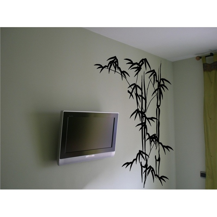 Hojas de bambú - Vinilo decorativo floral