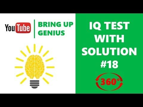 Next question | IQ test | IQ question with answer 18 | vr 360 video - YouTube