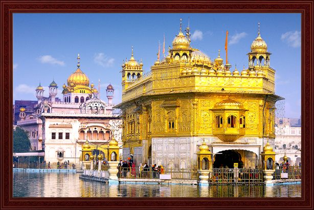 3d mural oil painting of har madir sahib world famous for 3d mural art in india