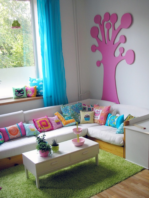 Cute sitting area for kids room