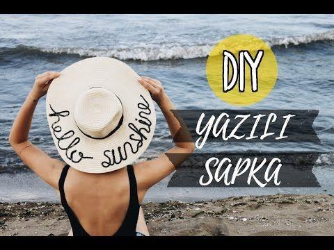 Yazılı Şapka Yapımı / KENDİN YAP / DIY Sequined Straw Hat - YouTube
