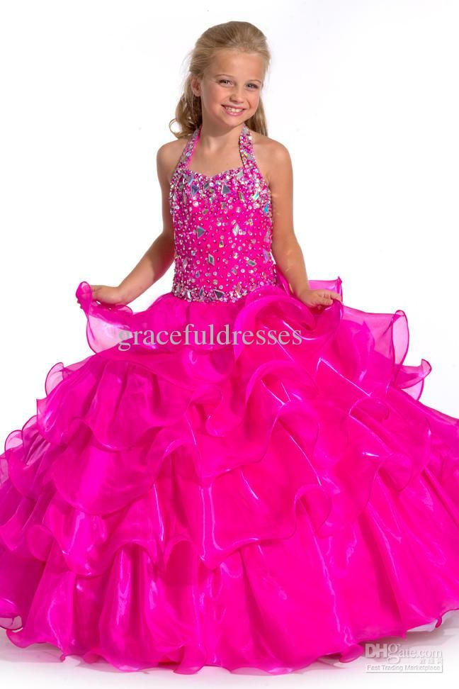 New 2013 ball gowns fuchsia Hot Pink Shoulder Straps Organza ...