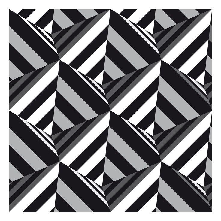 black and white pyramids