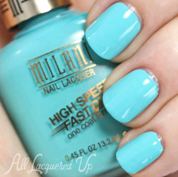 Milani Aqua Brisk. Click through for more Milani swatches via @All Lacquered Up