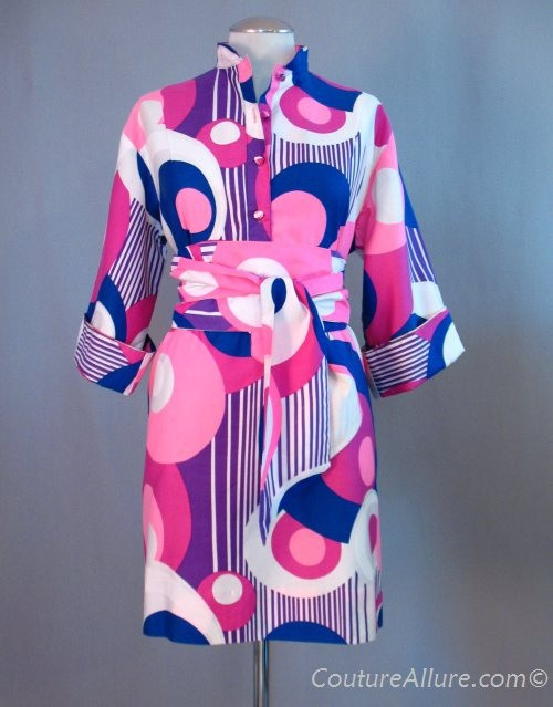 Vintage 60s PENTHOUSE GALLERY Dress Pop Art XXL XL bust 47 at Couture Allure Vintage Clothing