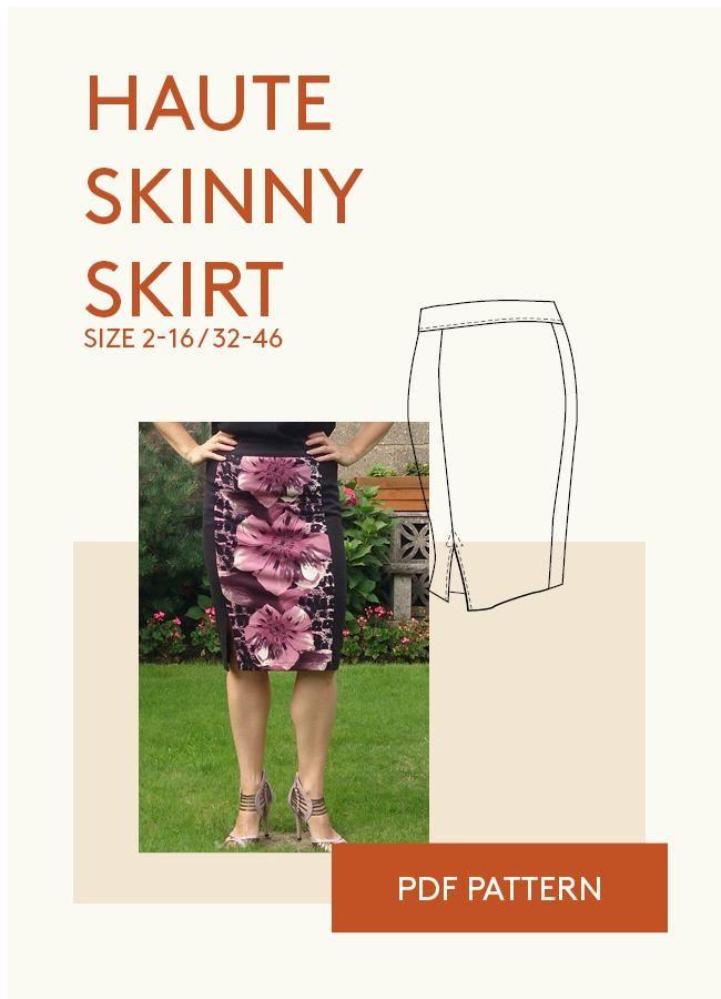 skirt PDF sewing pattern for women