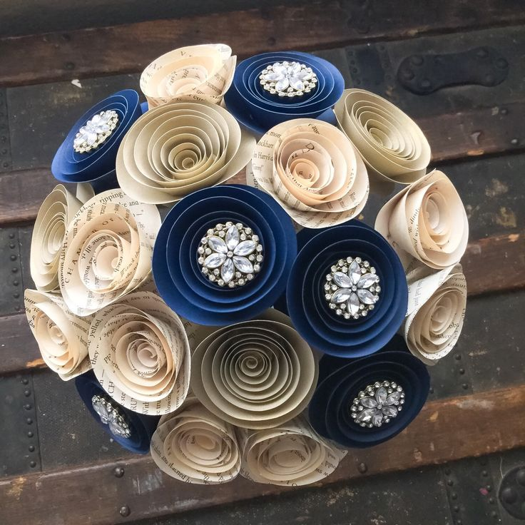 Paper Flower Bouquet -   Wedding Bouquet Alternative - Wedding Bouquet - Paper Flower Bouquet - Paper Flowers - Brooch Bouquet - Book page by BellaLunasFlowers on Etsy https://www.etsy.com/au/listing/272481966/paper-flower-bouquet-wedding-bouquet