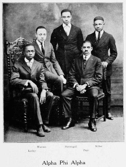 | Alpha Phi Alpha Fraternity, 1921