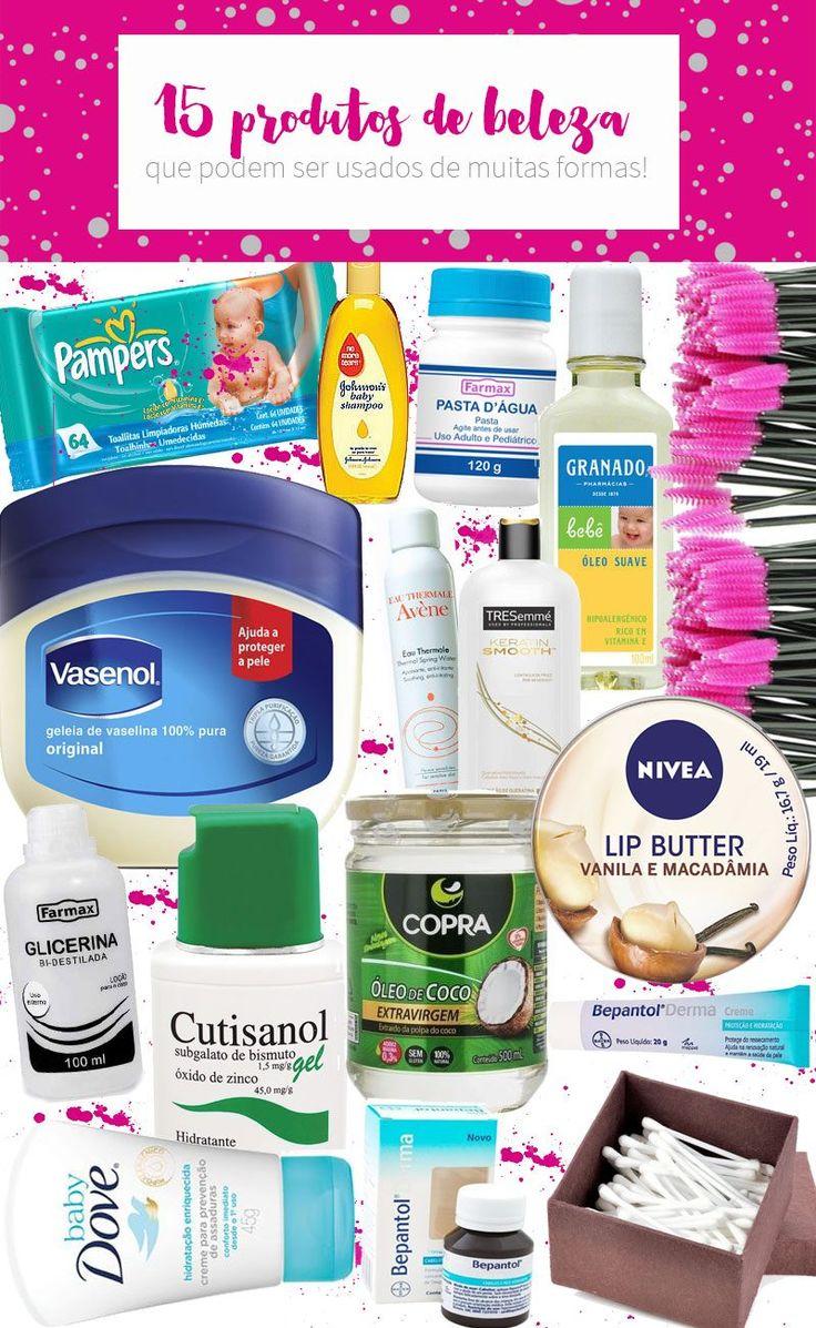 Dicas de 15 produtos de beleza que podem usados de muitas formas que você ainda não tinha pensado