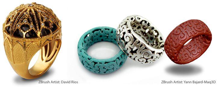 projektowanie biżuterii w ZBrush