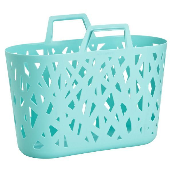 Pick up our Nestbasket by reisenthel for an easy shopper, or as clever storage! The turquoise is the perfect pop of color to any room.