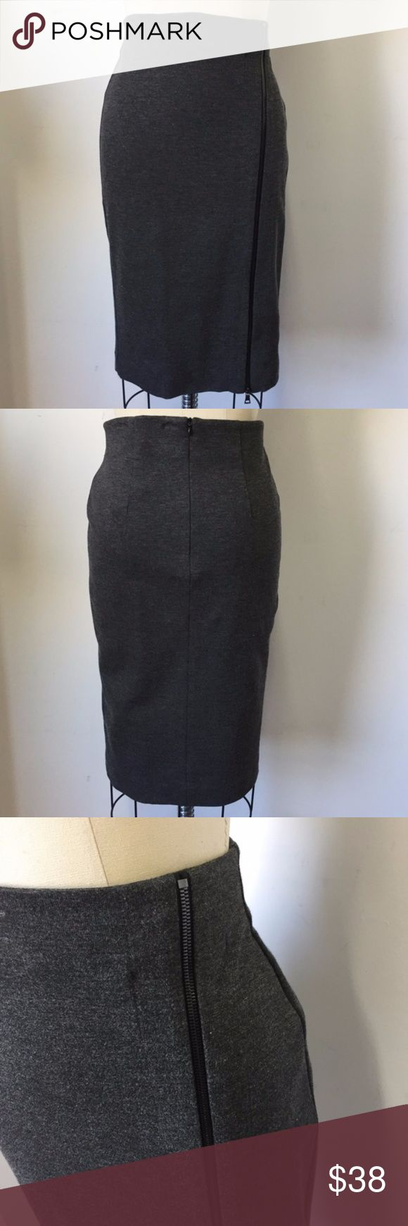 """Three Dots Women's Gray Pencil Skirt Gray midi pencil skirt  Size M Length 25 1/2"""" Zipper side and back for closure  New product with tag W22 PE17 Three Dots Skirts Midi"""