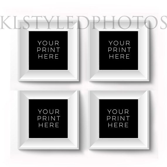 SQUARE White EMPTY Frame/ White wall/ Styled by KLStyledPhotos