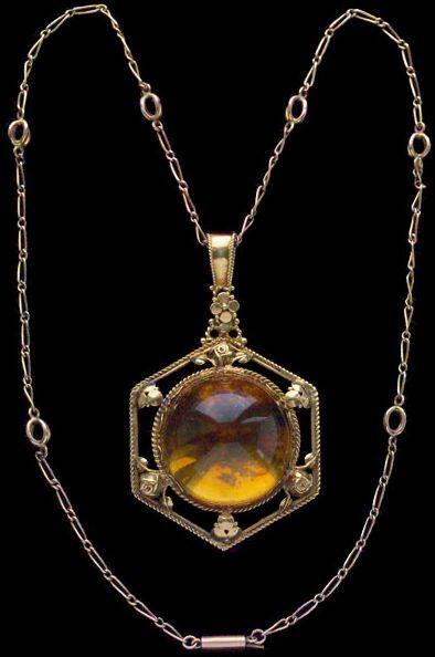 Gold and Citrine Necklace  Artificier's Guild, 1905  Tadema Gallery