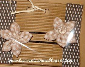Le cose piccinine: Forcine con fiori in stoffa