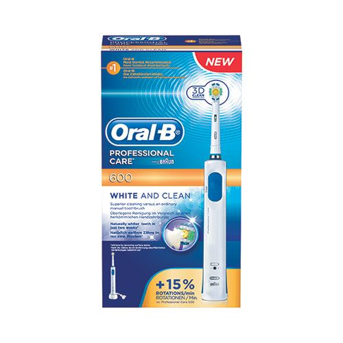 Oral B Braun Professional Care 600 White & Clean (Ηλεκτρική Οδοντόβουρτσα) | Familypharmacy.gr