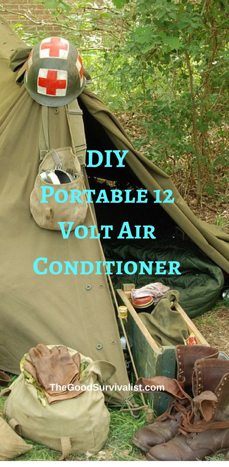 This 12 volt portable air conditioner really works, and will keep a medium size tent cool enough to keep you quite comfortable.  http://www.thegoodsurvivalist.com/diy-portable-12-volt-air-conditioner-will-keep-your-tent-cool-on-your-next-camping-trip/