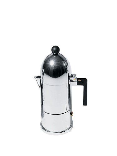 La Cupola Espresso Maker by Aldo Rossi Size 3 cup Handle Color Black Finish Aluminum -- Click image to review more details.