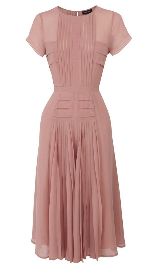 Pleated Midi Dress, £70.00, Warehouse...wish I could wear this...