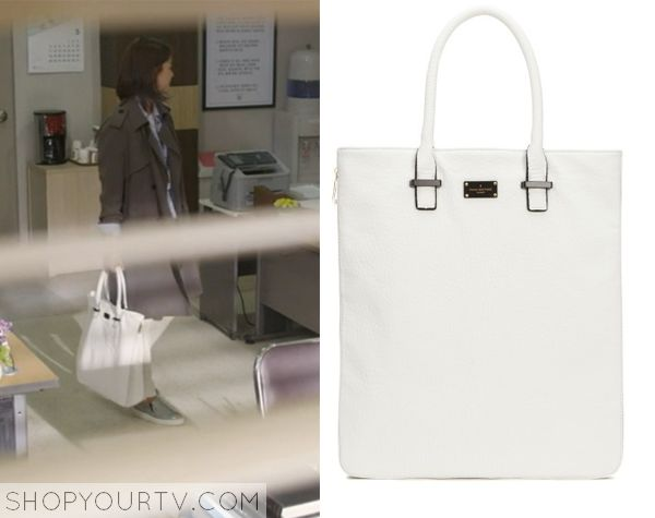 Golden Cross: Episode 9 Seo Yi Re's White Faux Leather Bag - ShopYourTv