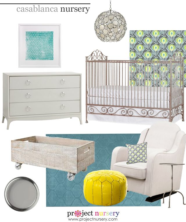 Project Nursery Design Board featuring the stunning @Bratt Decor Casablanca Crib! #designboard #nursery: Decor Casablanca, Baby Spaces, Nurseries, Baby Nursery Stuff, Bratt Decor, Baby Girl, Baby Rooms, Project Nursery, Baby Stuff