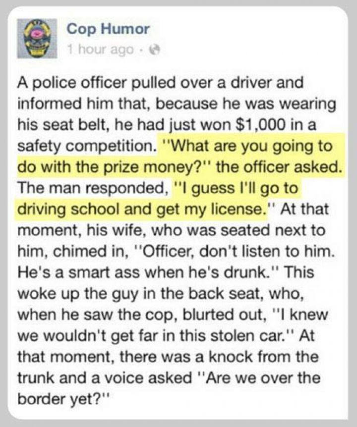 Hilarious! Cop Humor.