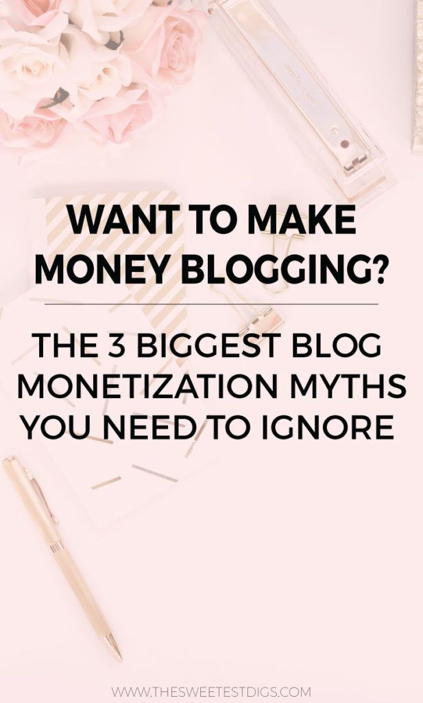 Want to make money blogging? Make sure you ignore these blog monetization myths!! Click through for the full scoop on what they are and what you can do instead. Plus more blogging biz and social media tips!