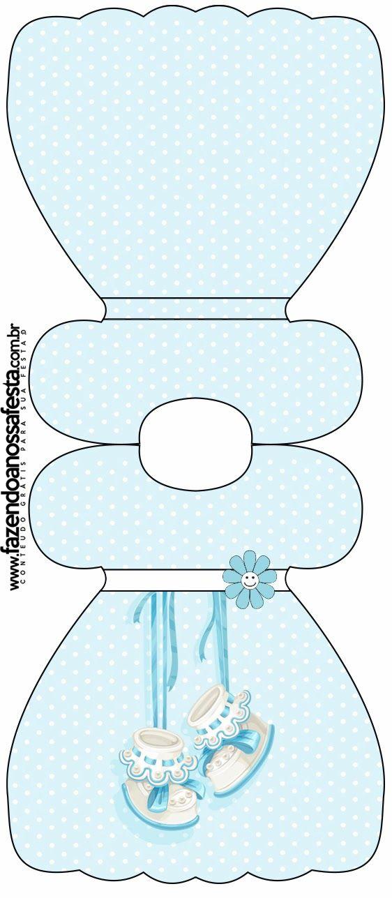 Zapatitos de Bebé: Tarjetas o Invitaciones para Imprimir Gratis.