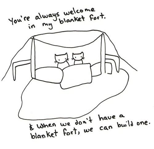 Image result for blanket fort anxiety
